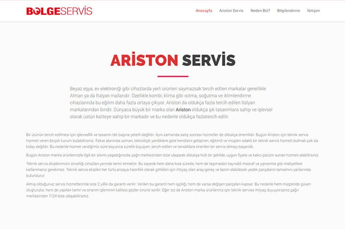 özel ariston servis